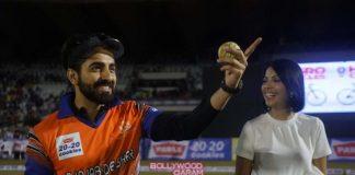 Sonu Sood and Ayushmann Khurrana in high spirits at CCL match