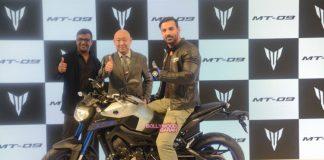 John Abraham unveils new Yamaha bike at Auto Expo 2016