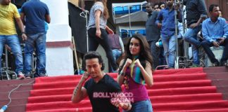 Shraddha Kapoor and Tiger Shroff at Baaghi movie locations