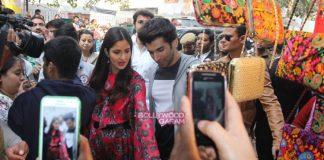 Katrina Kaif and Aditya Roy Kapur promote Fitoor in Delhi