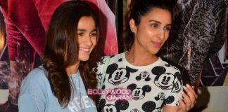 Parineeti Chopra and Sonam Kapoor at Ki and Ka special screening
