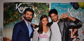 Sidharth Malhotra, Fawad Khan and Karan Johar at Kapoor and Sons success press meet