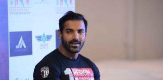 John Abraham promotes Rocky Handsome in Delhi