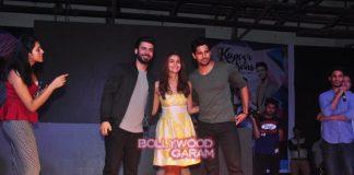 Alia Bhatt, Sidharth Malhotra and Fawad Khan promote Kapoor and sons at Mithibai college
