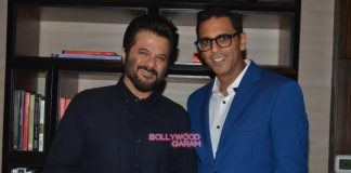 Anil Kapoor poses for shutterbugs at an event