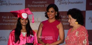 Lara Dutta interacts with scholars at Fair & Lovely Foundation event