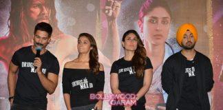 Kareena Kapoor, Shahid Kapoor and Alia Bhatt launch Udta Punjab trailer – Photos