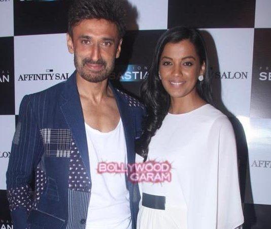 Mugdha Godse and Rahul Dev at Affinity Salon launch event