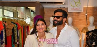 Athiya Shetty and Suniel Shetty visit exhibition