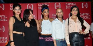 Shahrukh Khan, Varun Dhawan and Shriya Saran at Capital Social launch event