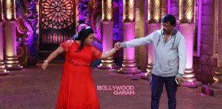 Sonal Chauhan and Ram Gopal Varma enjoy on sets  of Comedy Nights Bachao