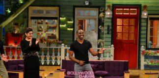 Dwayne Bravo and Raveena Tandon enjoy paani poori on The Kapil Sharma Show