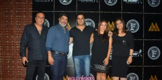 Abhishek Kapoor, Shenaz Treasureywala and Rashmi Nigam at Farzi Café launch event