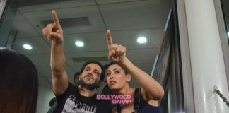 Emraan Hashmi and Nargis Fakhri promote Azhar at IPL match