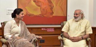 Cleanliness Conscious Kajol meet PM Narendra Modi