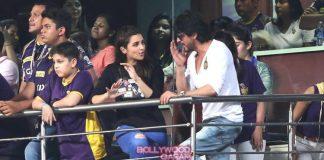 Shahrukh Khan and Parineeti cheer at IPL match