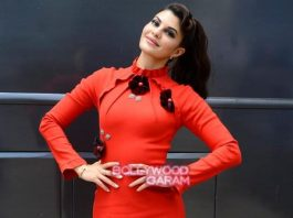 Jacqueline Fernandez dazzles in red