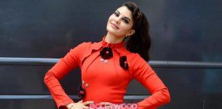 Jacqueline Fernandez dazzles in red