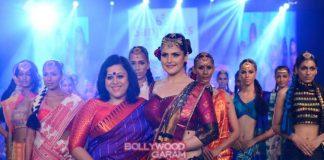 India Beach Fashion Week 2016 –  Zareen Khan walks the ramp for Sanjukta