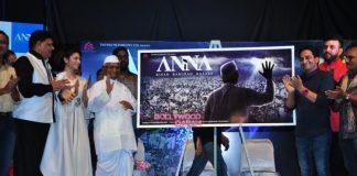 Tanisha Mujherjee and Anna Hazare unveil Anna movie poster