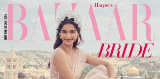 Sonam Kapoor stuns on Harper's Bazaar Bride cover