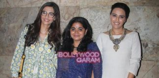 Sonam Kapoor and Swara Bhaskar at Nil Battey Sannata special screening