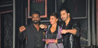 Jacqueline Fernandez and Varun Dhawan  promote Dishoom on Dance Plus