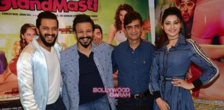 Riteish Deshmukh, Vivek Oberoi and Urvashi Rautela promote Great Grand Masti