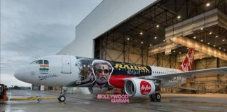 Makers of Kabali promote movie with AirAsia aircraft