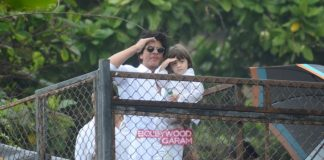 Shahrukh Khan and son Abram wish fans on Eid