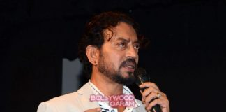 Irrfan Khan promotes Madaari at Mithibai college