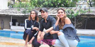 Akshay Kumar, Ileana D'Cruz and Esha Gupta promote Rustom