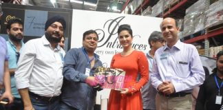 Sunny Leone promotes her new perfume brand Lust