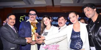 Jackie Shroff and Kainaat Arora at 5th TIIFA Awards announcement ceremony