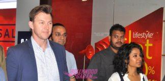 Brett Lee and Tannishtha Chatterjee promote UnIndian