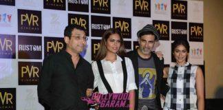 Akshay Kumar, Ileana D'Cruz and Esha Gupta promote Rustom in New Delhi