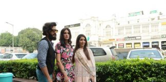 Nargis Fakhri and Riteish Deshmukh promote Banjo in New Delhi
