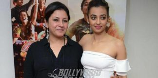 Radhika Apte and Surveen Chawla at Parched press event