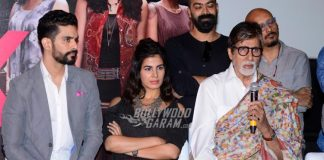 Amitabh Bachchan, Taapsee Pannu and Kirti Kulhari at Pink success press meet