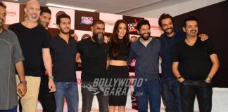 Shraddha Kapoor, Farhan Akhtar and Arjun Rampal at Rock On 2 press event