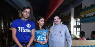 Soha Ali Khan promotes 31st October at press event