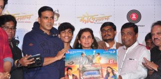 Akshay Kumar and Dimple Kapadia launches music of Marathi movie Kaul Manacha