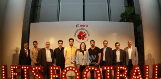 Nita Ambani, Ranbir Kapoor and Abhishek Bachchan at Indian Super League meet