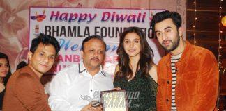 Ranbir Kapoor & Anushka Sharma Celebrate Diwali at Bhamla Foundation
