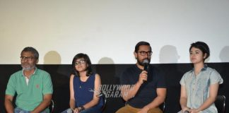 Aamir Khan with reel life daughters promote Dangal