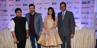 Vivek Oberoi and Sai Tamhankar at Filmfare Awards Marathi press event