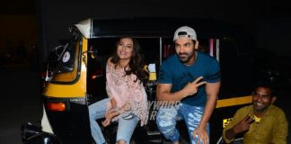 Sonakshi Sinha and John Abraham promote Force 2 in auto-rickshaw