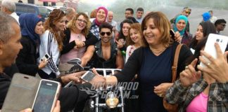 Gurmeet Chaudhary interacts with fans at Georgia
