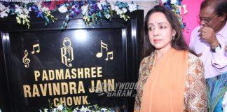 Hema Malini remembers composer Ravindra Jain at road square inaugural ceremony