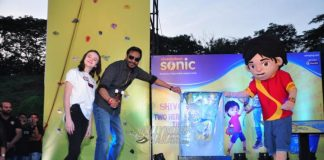 Ajay Devgn promotes Shivaay with Abigail Eames